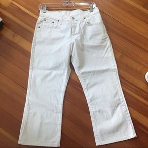 Lucky brand classic crop white jeans